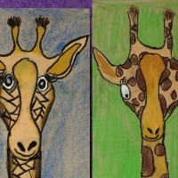 Art pumpkins and giraffes 011